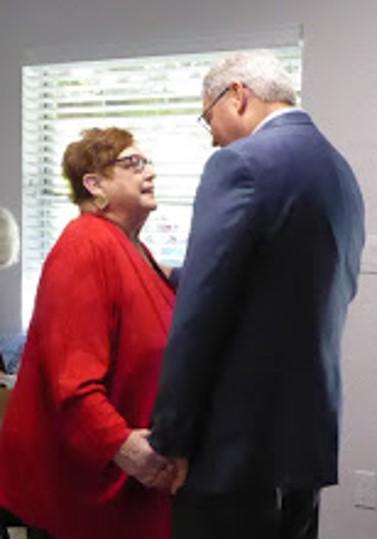 Mayor Henderson & Kay Holloway